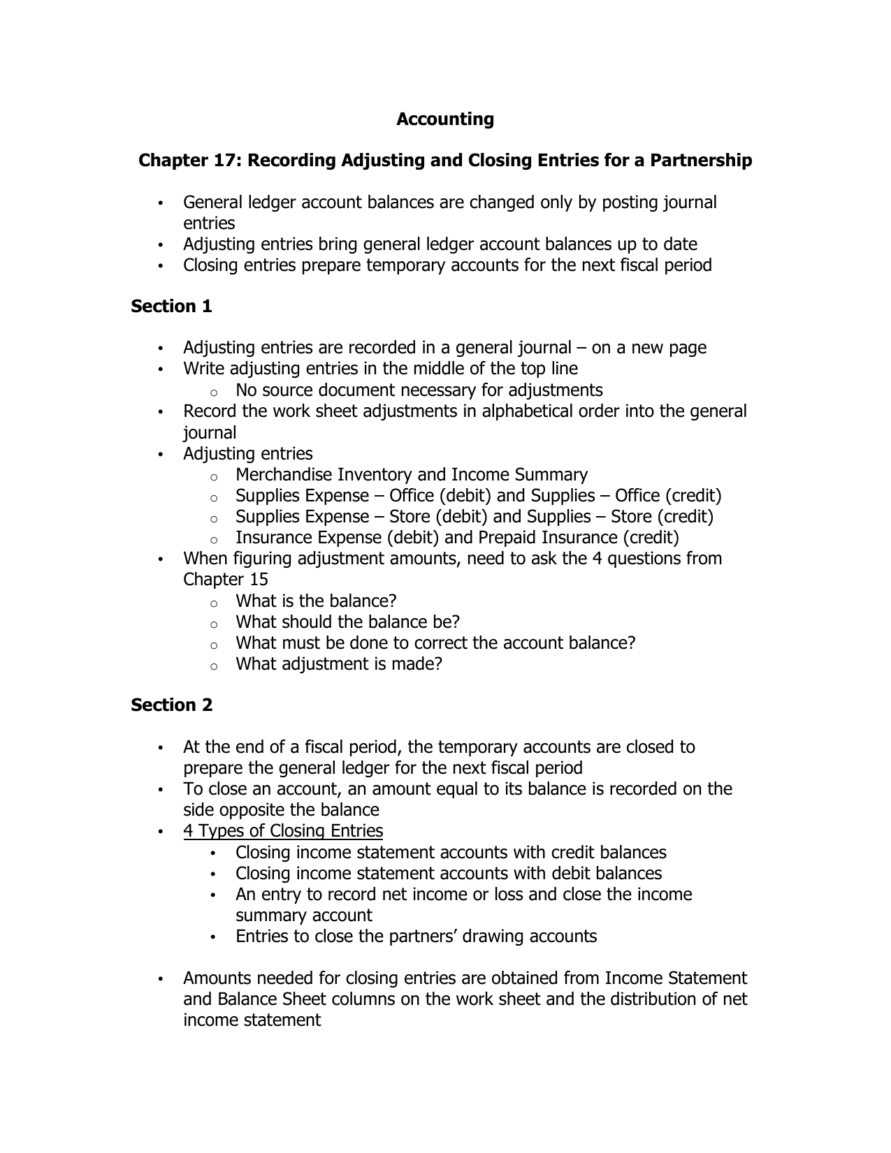 Accounting Lecture 12 - Division of Partnership Profit and ...  |Accounting Journal Entries For Partnerships