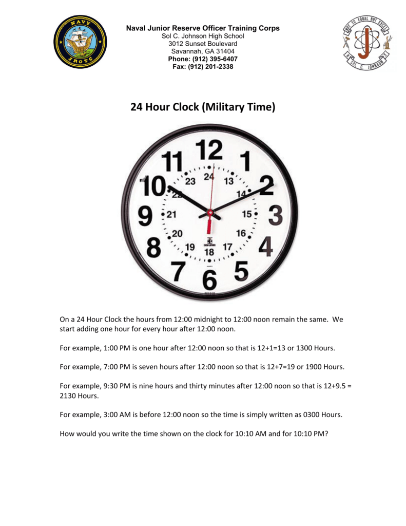 Military Time Clock >> 24 Hour Clock Military Time