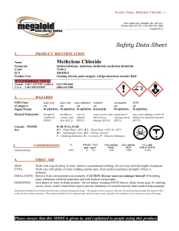 Safety Data Sheet - Megaloid Laboratories
