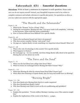 part 1 study guide rh studylib net Fahrenheit 451 Short Answer Questions study guide questions for fahrenheit 451 answer key