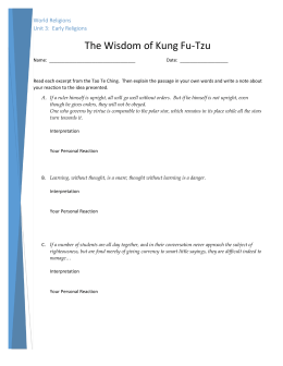 The Wisdom of Kung Fu-Tzu