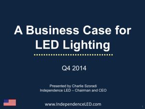 A Business Case for LED Lighting
