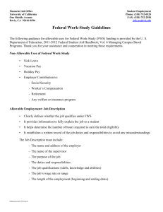 Federal Work-Study Guidelines