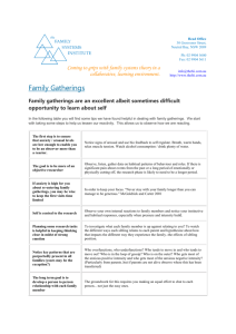 Family Gatherings - The Family Systems Institute & Practice