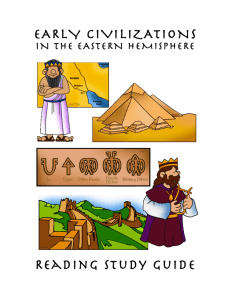 EARLY CIVILIZATIONS Reading study guide