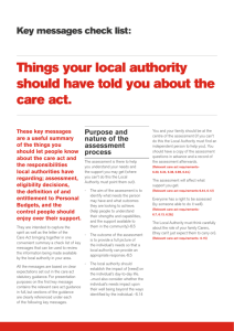 Things your local authority should have told you about the care act.