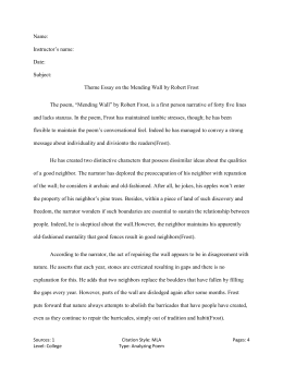 Robert frost the road not taken theme essay