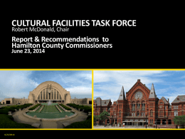 cultural facilities task force