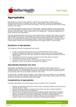 Case Study on Agoraphobia