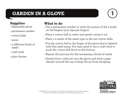 garden in a glove - North Carolina Science Festival