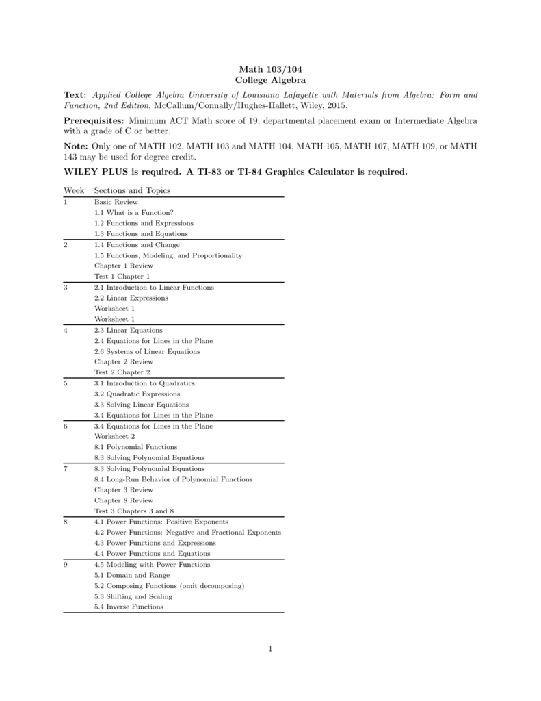 Worksheets For College Math 107 worksheets for college math 107 – College Algebra Worksheets