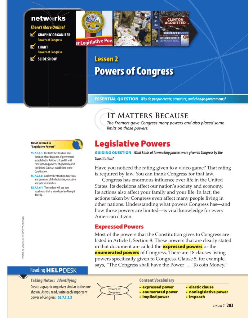 CQ Press   Congress A to Z together with Powers of Congress   McGraw Hill besides Government  Congress Crossword   WordMint together with Applying the Principles of the Consution   Answer Key moreover Chapter 11 Lawmakers and Legislatures   stephapgovernment together with Federalists versus Anti Federalists Overview In this lesson besides Articles of Confederation Worksheet Remember that the term in addition A World Safe for Democracy   New Visions   Social Stus furthermore Chapter 11   Powers of Congress moreover Teacher's Guide together with nches of the U S  Government   USAGov further POS301   ignment about the government branches    POS 301 moreover Chapter 11  Powers of Congress Section 1   ppt download besides Powers of Congress worksheet  2 by Social Stus Creationz   TpT further Executive Power in Times of Crisis further Consutional Videos   Separation Viewing Guide   Bill of Rights. on powers of congress worksheet answers
