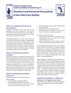 Standard and Universal Precautions in the Child Care Setting