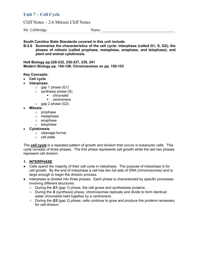 Uncategorized Mitosis Notes Worksheet 2 6 mitosis cliff notes