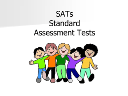 SATs Standard Assessment Tests