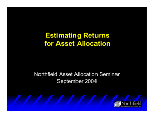 Estimating Returns for Asset Allocation