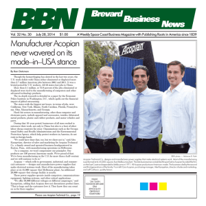 July 28, 2014 - Brevard Business News