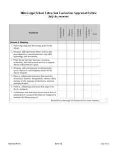 Librarian Evaluation Self Assessment Form L1