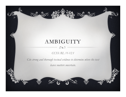 Ambiguity The Scarlet Letter Chapter 10