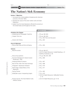 GUIDED READING The Nation's Sick Economy