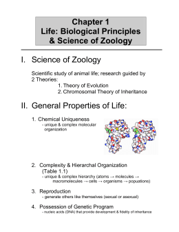 7 GENERAL PROPERTIES OF LIFE: