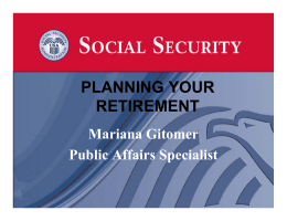 Social Security - Planning your Future