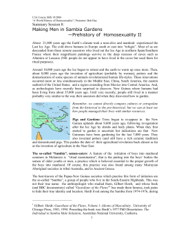 Ritualized homosexuality in melanesia and beyond