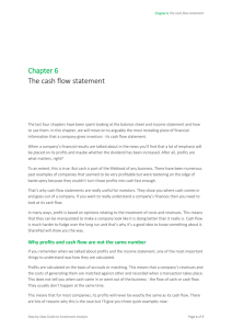 Chapter 6 The cash flow statement
