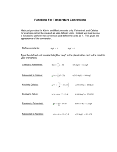 Functions For Temperature Conversions