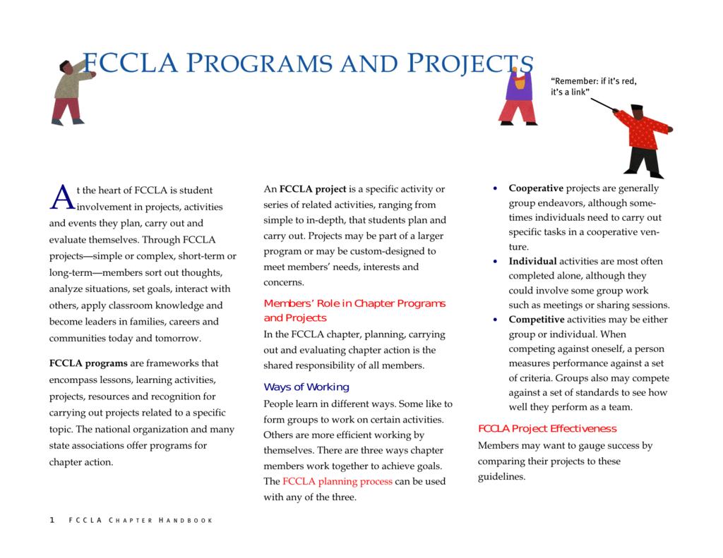 FCCLA planning process – Fccla Planning Process Worksheet