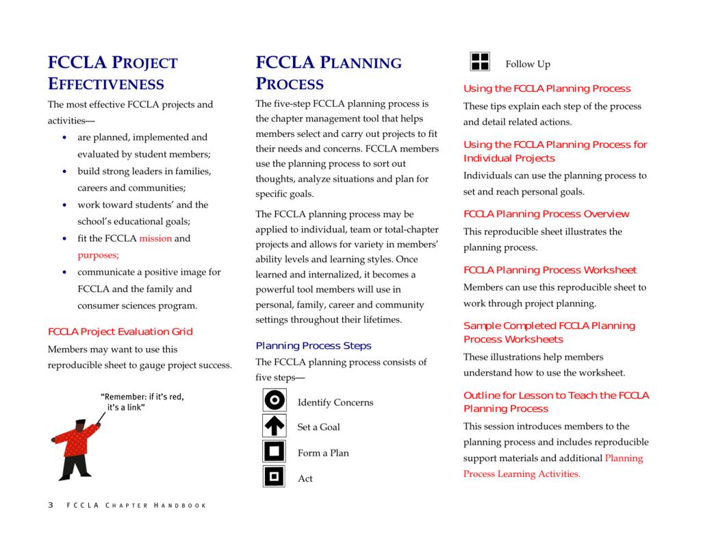 Planning Process – Fccla Planning Process Worksheet