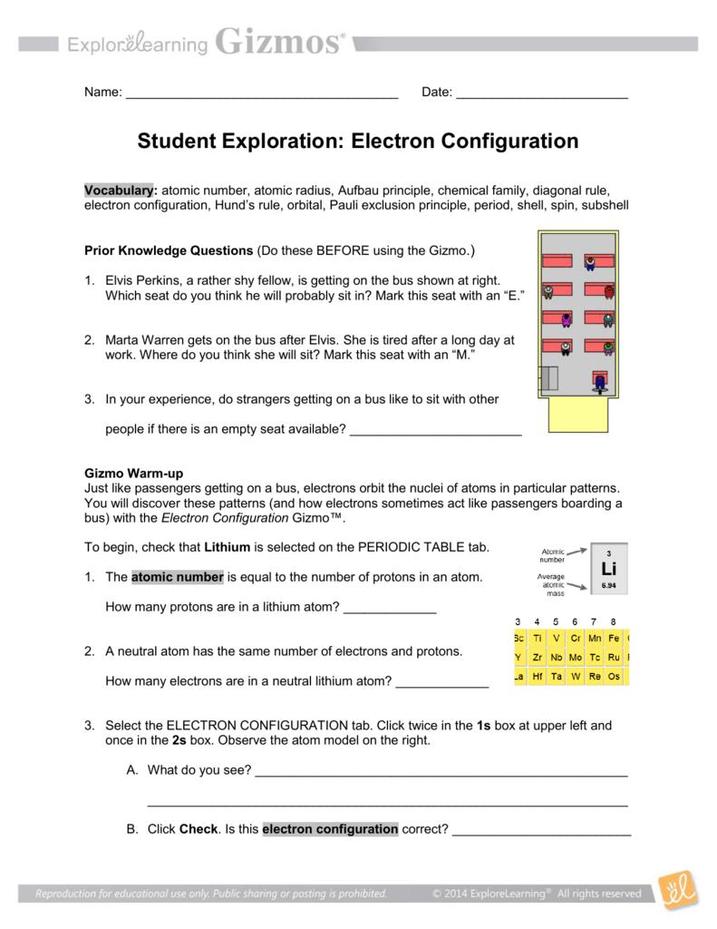 worksheet Patterns In Electron Configuration Worksheet Answers electron configuration smith