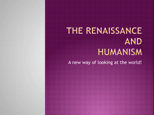 Renaissance and Humanism PowerPoint