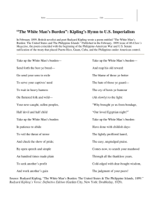 """The White Man's Burden"": Kipling's Hymn to U.S. Imperialism"