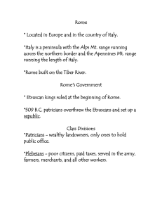 Roman Government Notes