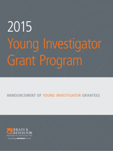 announcement of young investigator grantees