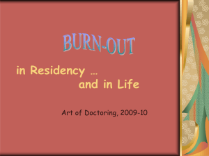 What is Burn-out? - Medical Education | School of Medicine