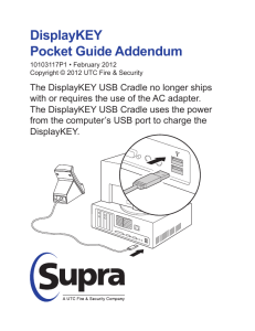 DisplayKEY User Manual Addendum