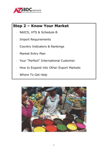 Export Business Plan -Step 2 Know Your Market