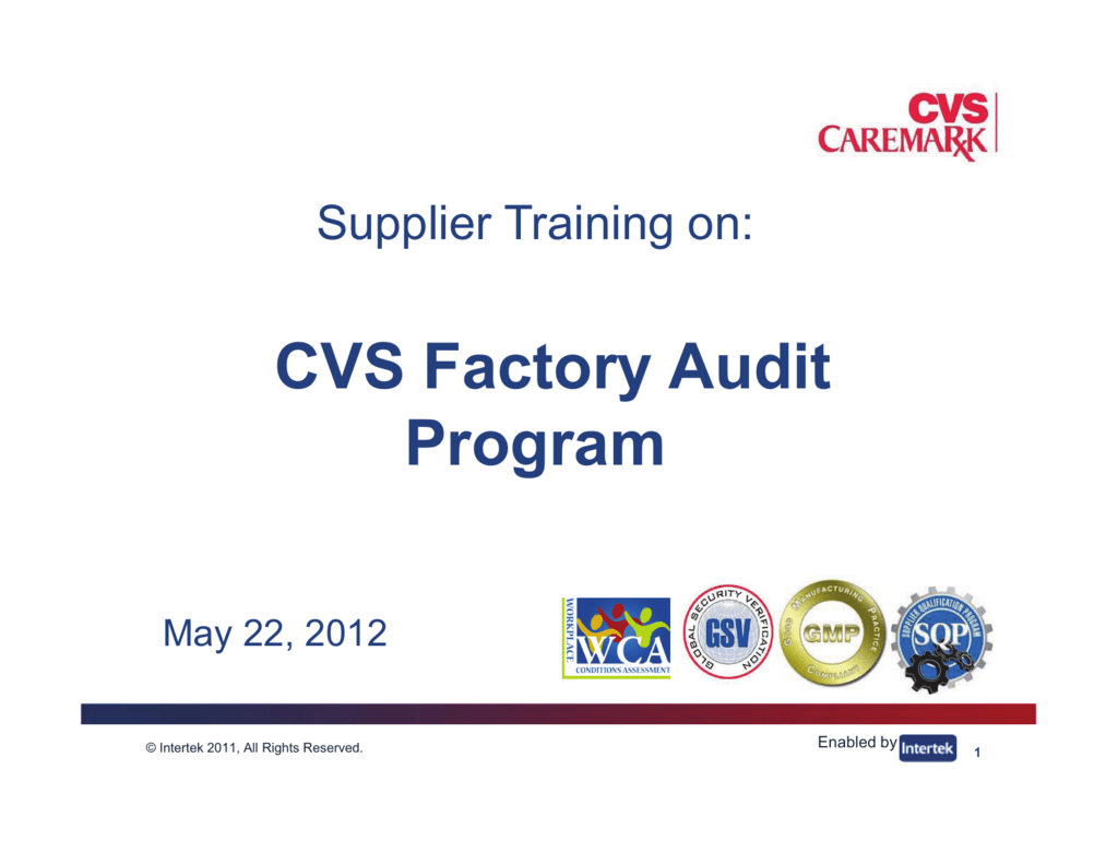 CVS Factory Audit Program