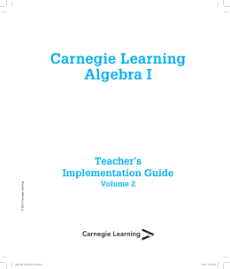 Carnegie Learning Algebra I