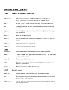 Timeline of the Cold War
