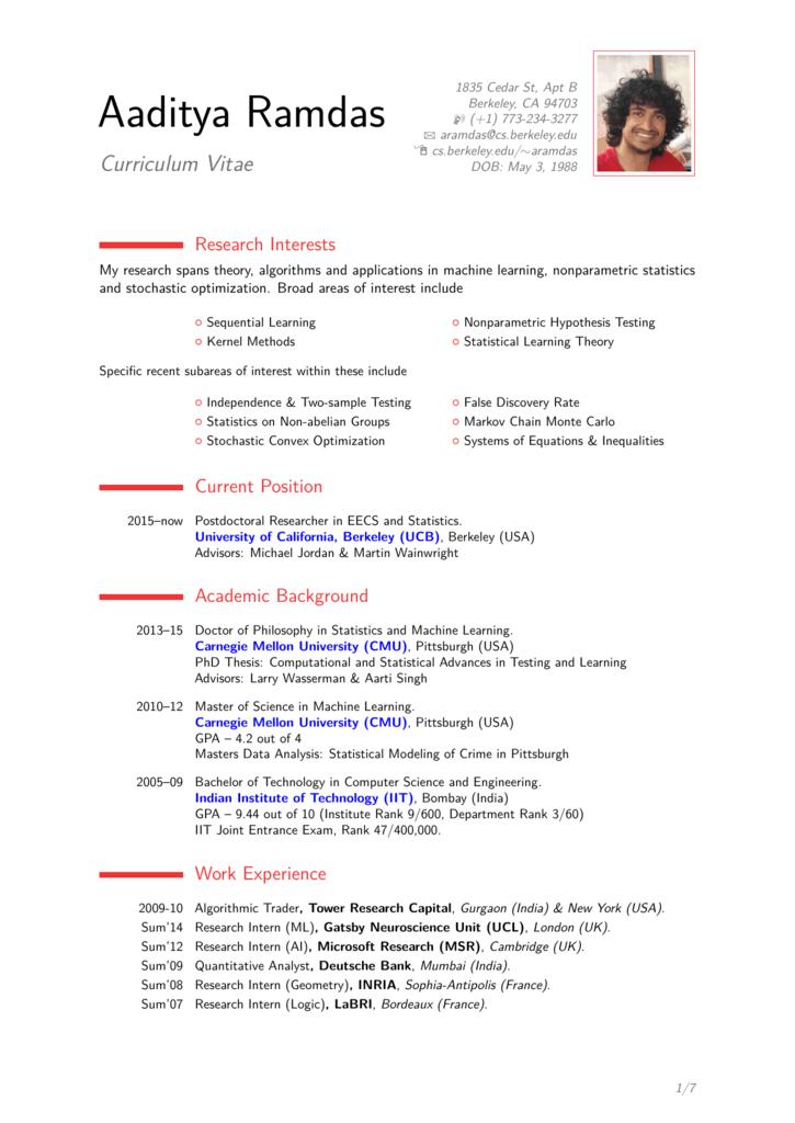 Curriculum Vitae - Computer Science Division