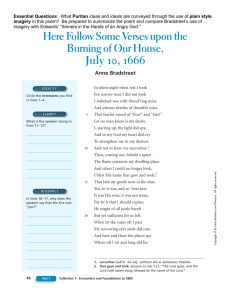 Here Follow Some Verses upon the Burning of Our House, July 10