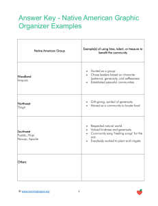 Answer Key - Native American Graphic Organizer