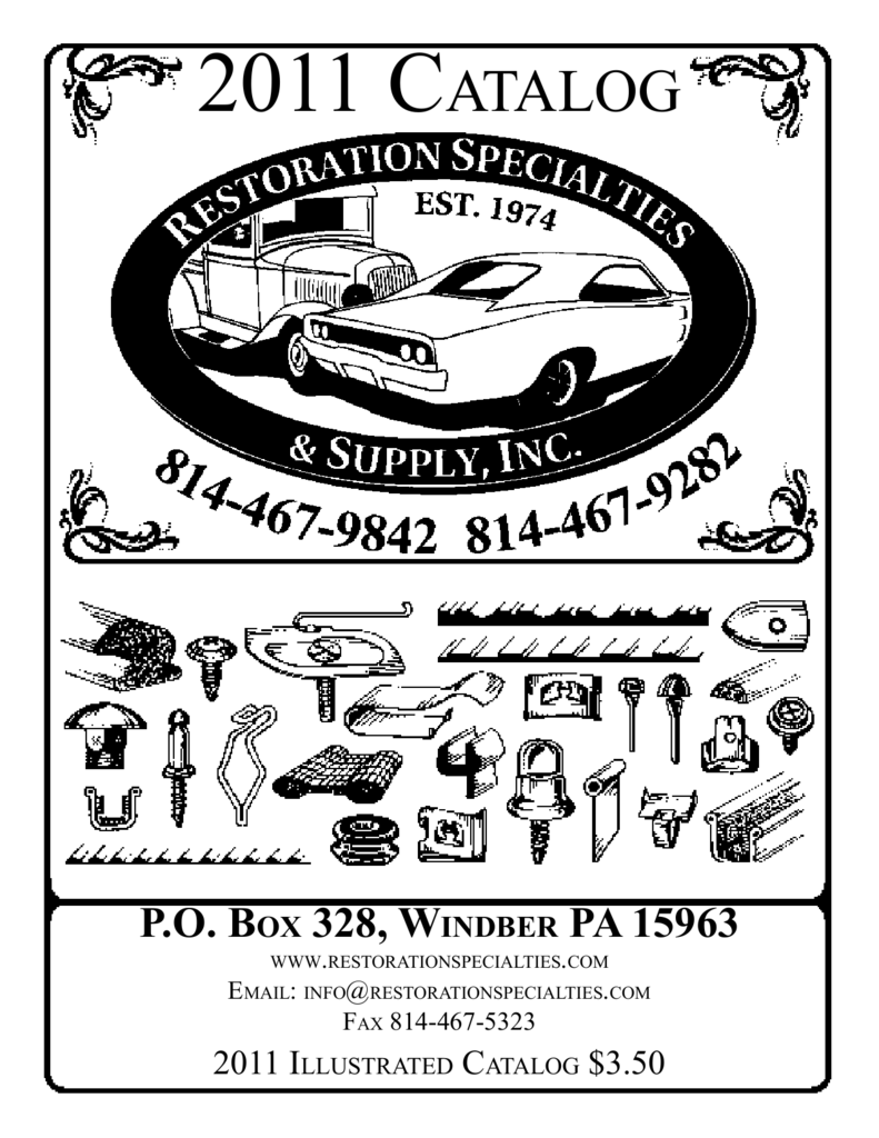 2011 catalog restoration specialties Old REO Trucks