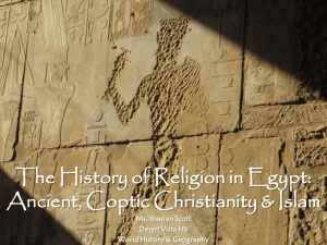 The History of Religion in Egypt: Ancient, Coptic Christianity & Islam
