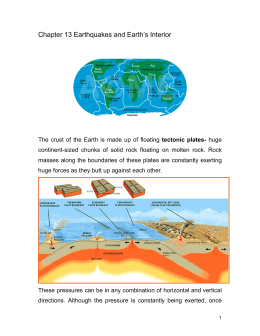 Chapter 13 Earthquakes and Earth's Interior