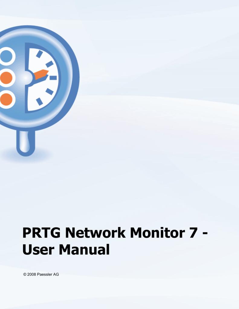 PRTG Network Monitor 7 - User Manual