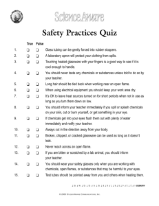 Safety Practices Quiz